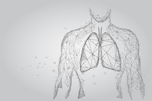 Man Silhouette Healthy Lungs C...