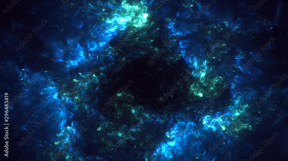 Fototapety, obrazy: Fractal 3D rendering abstract light surreal background