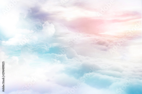 colorful clouds dreamy sky background Canvas