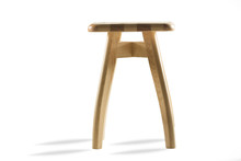 Wooden Stool Isolated On White...