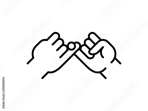 Canvas-taulu Pinky swear, or pinky promise thin line icon