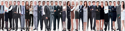 Obraz panoramic collage of groups of successful employees. - fototapety do salonu