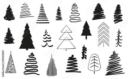 Christmas trees on white Tapéta, Fotótapéta
