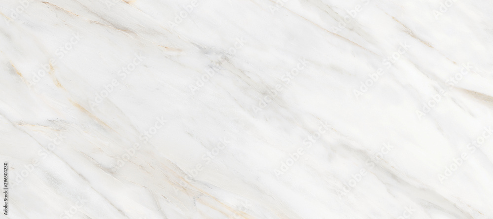 Fototapety, obrazy: White Carrara Marble Texture Background With Curly Grey-Brown Colored Veins, It Can Be Used For Interior-Exterior Home Decoration and Ceramic Decorative Tile Surface, Wallpaper, Architectural Slab.