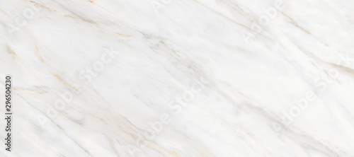 White Carrara Marble Texture Background With Curly Grey-Brown Colored Veins, It Can Be Used For Interior-Exterior Home Decoration and Ceramic Decorative Tile Surface, Wallpaper, Architectural Slab Fototapete