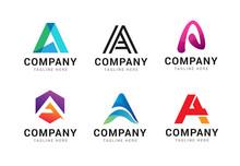 Set Of Letter A Logo Icons Des...