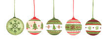 Colorful Christmas Balls Set. ...