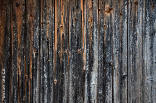Pinturas sobre lienzo  Close up texture detail on old faded and weathered castle wooden door