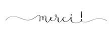 Calligraphie Vecteur Noir MERCI!