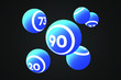 Blue Bingo Balls Vector Illustration