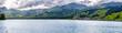 canvas print picture - Aufkommendes Gewitter über dem Sarnersee in der Schweiz