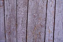 Vintage Wood Background With Peeling Paint, Purple Color