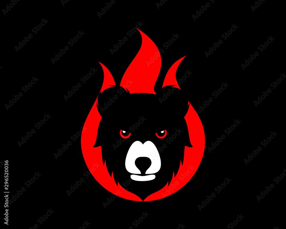 Fototapeta Burning bear