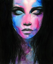 Abstract Woman Face. Fashion I...