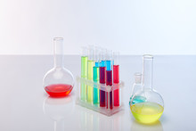 Glass Test Tubes And Flasks Wi...