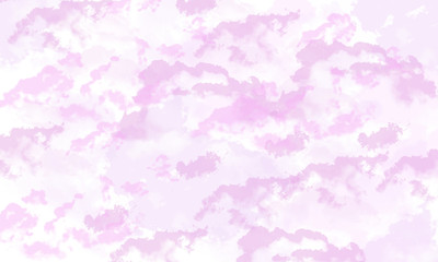 Illustration of soft purple cloud background. Digital drawing. Can be used as banner, presentation, flyer, poster, web design, website, invitations.