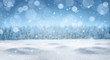 canvas print picture - Empty panoramic winter background with copy space