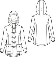 Jacket Garment Sketch Vector Men Women