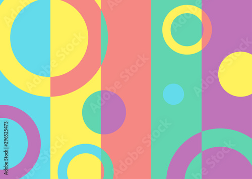 Obraz Abstract multicolored geometric minimal bright background. Punchy pastel style vector design - fototapety do salonu