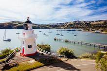 Akaroa Lighthouse In New Zeala...