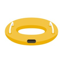 Inflatable Ring Icon. Flat Ill...