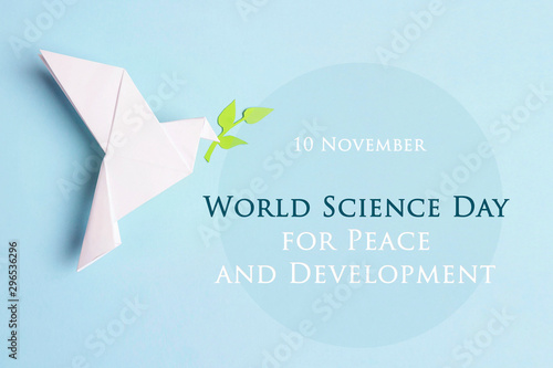 World science day for peace and development concept.