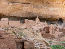 Ancient Cliff Dwellings In Mesa Verde National Park
