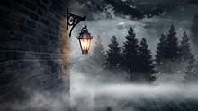 Dark Street, A Lantern On An O...
