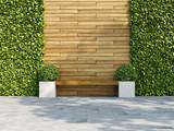 Fototapeta Przestrzenne - Decorative wooden wall