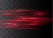 Red horizontal glare