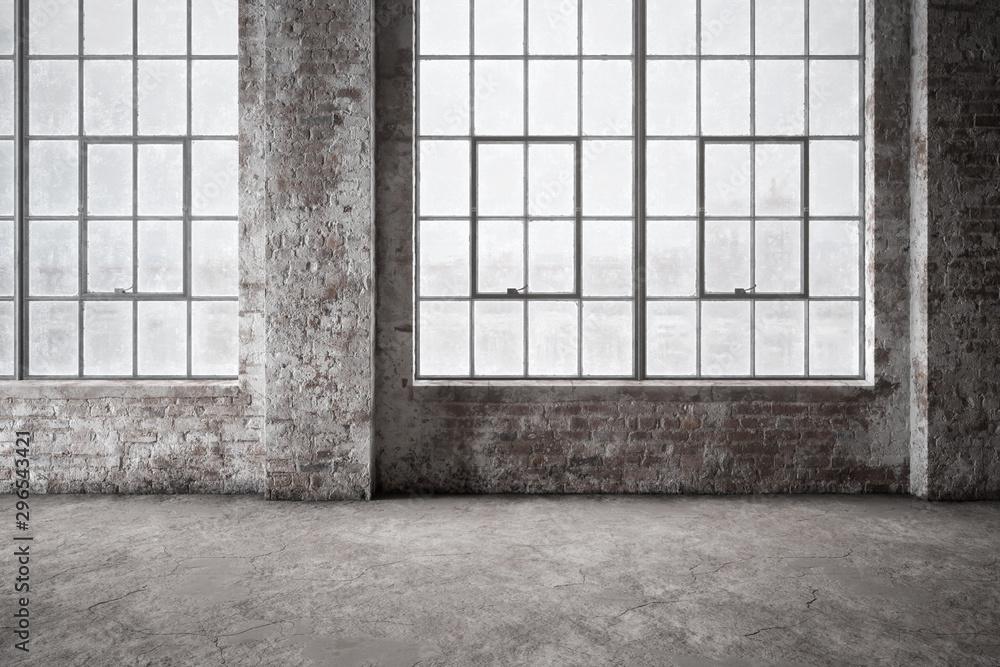Fototapety, obrazy: Empty industrial office area - 3d visualization