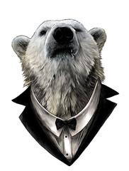 proud bear head looking con...