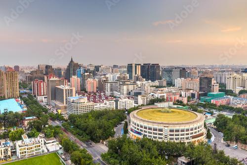 Keuken foto achterwand Peking Beijing, China cityscape and arena