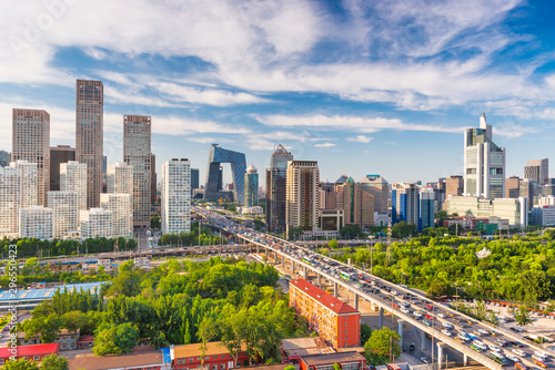 Keuken foto achterwand Peking Beijing, China modern financial district skyline