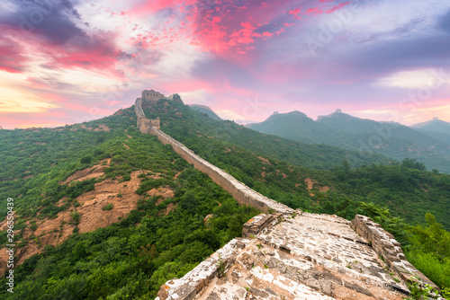 Muraille de Chine Great Wall of China at the Jinshanling section.