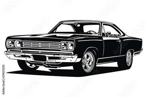 Obraz klasyczny retro niestandardowy samochód