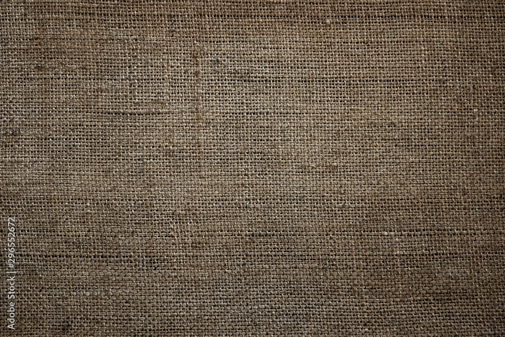 Fototapety, obrazy: old sackcloth texture of jute fabric