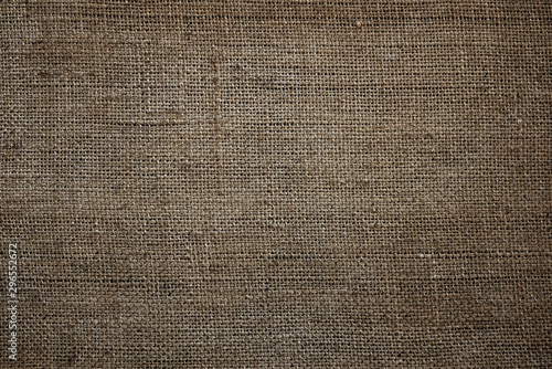 Door stickers Macro photography old sackcloth texture of jute fabric