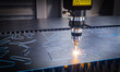 canvas print picture - cnc laser machinery for metal cutting.