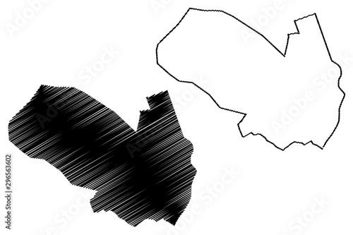 Photo Ashgabat City (Republic of Turkmenistan, Districts of Turkmenistan) map vector illustration, scribble sketch Poltoratsk map