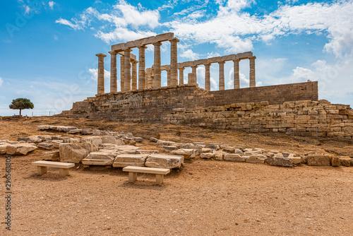 fototapeta na lodówkę poseidons temple in greece