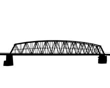 Old Railway Bridge On A White Background