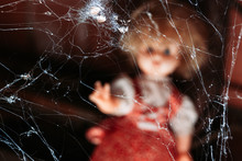 Spider Web With Old Doll Out O...