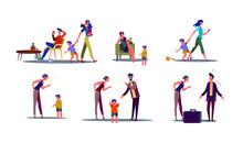 Toxic Parents Illustration Set