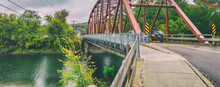 Bridge Over Winooski River In Autumn, Richmond, Vermont
