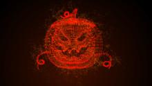 Abstract Fire Pumpkin For Halloween