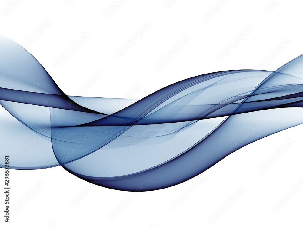 Fototapety, obrazy: Color light blue abstract waves design