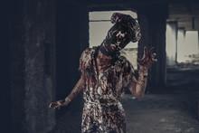 Ghost Nurse Woman Or Zombie In...