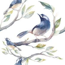 Watercolor Spring Seamless Pat...