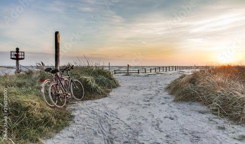 Obraz fahrräder am meer - fototapety do salonu